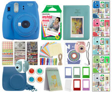 Fuji Instax Mini 9 Fujifilm Instant Camera All Colors + 10 Film Deluxe Bundle