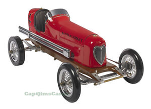 "Bantam Midget Red 1930s Tether Car Model 19"" Replica Racing Spindizzy New"