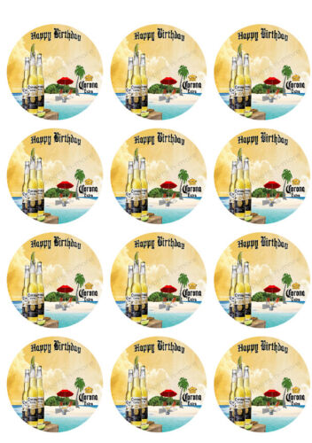 Corona Beer Personalized Edible Print Premium Cake Topper Frosting Sheets 5 Size