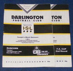 DARLINGTON-VARIOUS-HOME-PROGRAMMES-1989-1990