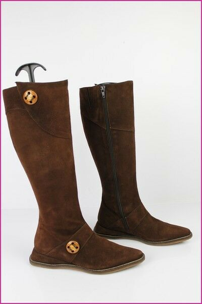 botas REGARD Daim marrón T 35,5 TBE