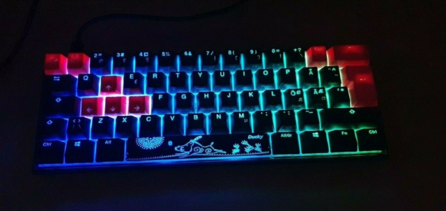 Tastatur, Ducky, Mecha Mini 2020 Cherry Brown RGB, Perfekt,…