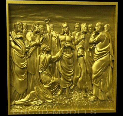 3D Model STL for CNC Router Engraver Carving Artcam Aspire Jesus Christ 7063