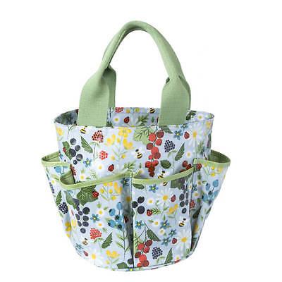 Large PVC Kitchen Garden Print Gardening Tool Storage Bag by Gisela Graham Gift