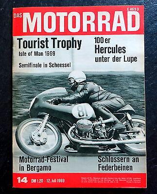 Berichte & Zeitschriften Auto & Motorrad: Teile Das Motorrad 14/69 Isle Of Man 1969,hercules K 105,motorrad-festival In Bergamo