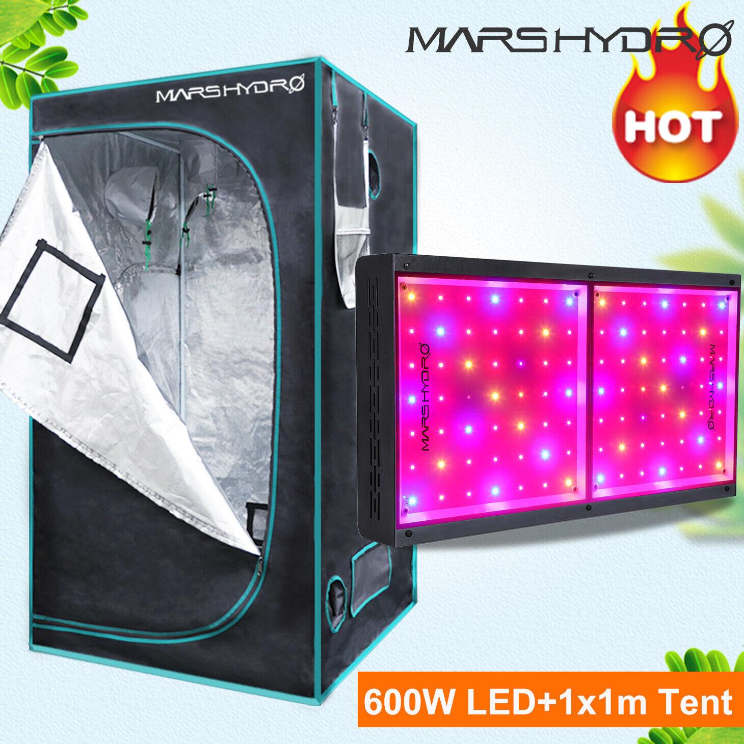MarsHydro ECO 600W Led Grow Light Lampe+ 1x1x1.8m Grow Zelt Tent Gewächshaus Box