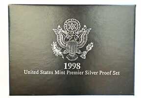 1998-S-Premier-Silver-Proof-Set-5-Coin-set-in-the-Original-mint-issued-box