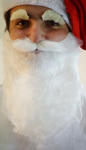 Santa Claus-St Nick-Christmas-Xmas-Magical-Grotto SANTA BEARD /& EYEBROW SET