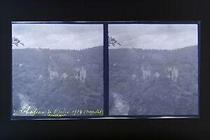 Chateau-Da-Merle-Argentat-Auvergne-Foto-Stereo-Negativo-Su-Film-Morbido-1914