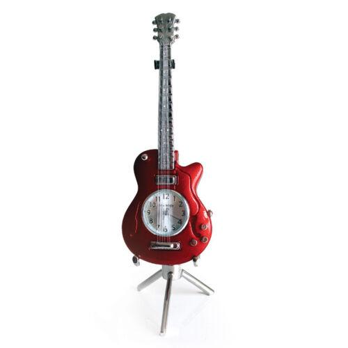 Red MINIATURE CLOCK Electric Guitar