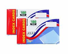 2 Pack Colored Index Cards 3x5 Inch Unruled Blue 100 Count Per Package From N