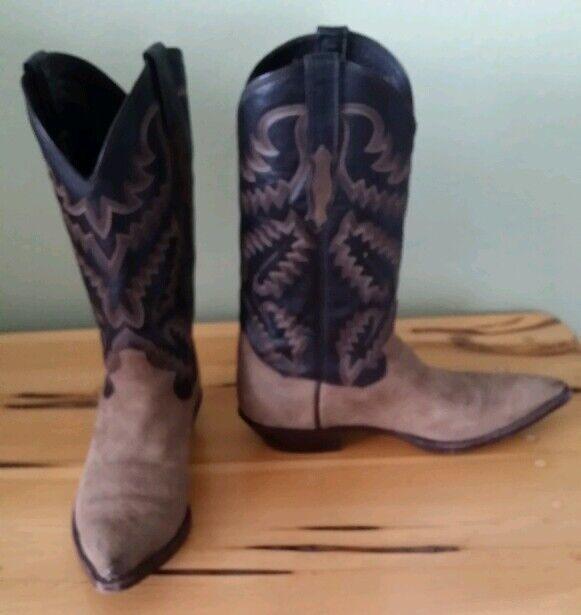 compra nuovo economico Sterling Sterling Sterling Marrone and nero Uomo Leather Western Cowboy stivali 9.5D Gorgeous  EUC  risparmiare sulla liquidazione
