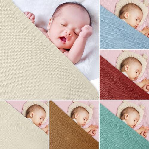 100/% Soft Cellular Baby Blanket Fit Cot Pram Moses Basket five Color 100x80cm