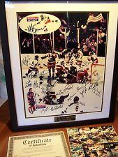 "1980 USA ""MIRACLE ON ICE"" OLYMPIC HOCKEY TEAM SIGNED HERB BROOKS FULL SIGNATURE"