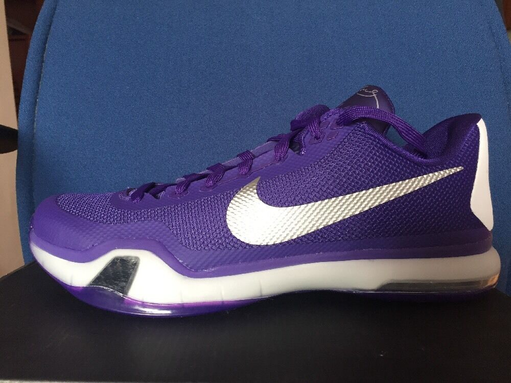 7372f381f454 Nike Kobe 10 X TB Moonwalker 12 Sz 12 Moonwalker Grape Purple LA ...