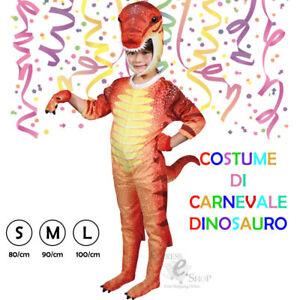 grande liquidazione design popolare vende Dettagli su COSTUME CARNEVALE DINOSAURO Vestito bambino vestitino maschera  maschere DRAGO