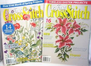 2-Just-Cross-Stitch-Magazines-Spring-Charts-March-April-2010-2011-Issues-Easter