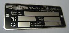 Aermacchi  Harley Sprint 350 ID DATA PLATE TAG SST SX