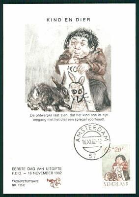 Niederlande Mk 1982 Voor Het Kind Hase Kaninchen Maximumkarte Maxi Card Mc Ek46 Die Nieren NäHren Und Rheuma Lindern