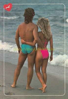 NOS Vintage 1987 Best of the Beach Swimsuit MULLET /& SPEEDO Postcard TOTALLY 80s