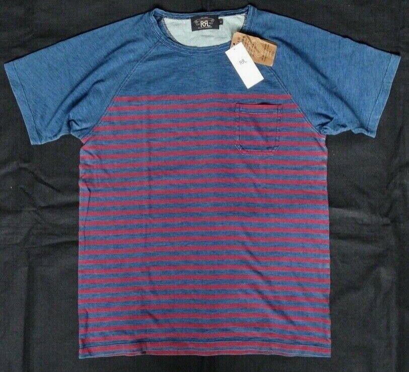 Ralph Lauren RRL DOUBLE RL Striped T-hemd Gr M