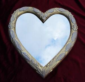 Muebles Antiguos Y Decoración Espejos Espejo De Pared Corazón En Forma Barroco Oro Blanco Regalo Amor 26 And To Have A Long Life.