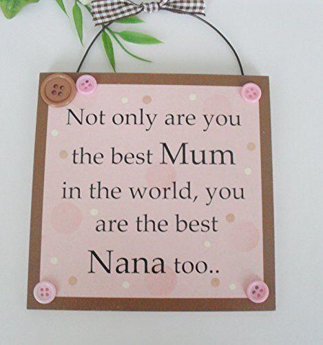 Non seulement tu es la meilleure maman au monde que vous êtes le meilleur nana trop en bois cadeau