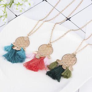 Fashion-Women-Bohemia-Hollow-Tassel-Pendant-Necklace-Long-Sweater-Jewelry