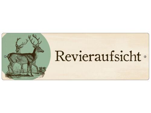 Kunststoffschild mit Saugnapf Autoschild REVIERAUFSICHT Jäger Jagd Shabby