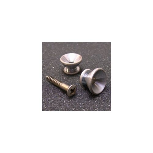 Gotoh Nickel Strap Buttons With Screws Aged Finish Set of 2