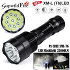 Super Bright 35000LM Zoom XM-L T6 LED 5-Mode 18650 Flashlight Torch Lamp Light