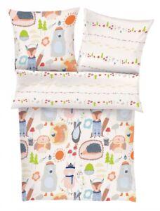 Details Zu Soliver Bettwäsche Junior Für Kinder Babybettwäsche Bär Eichhörnchen Unisex