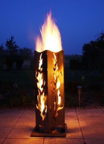 "Feuersäule de luxe Edelstahl /""Flamme II/"" Qualität Made in Germany"