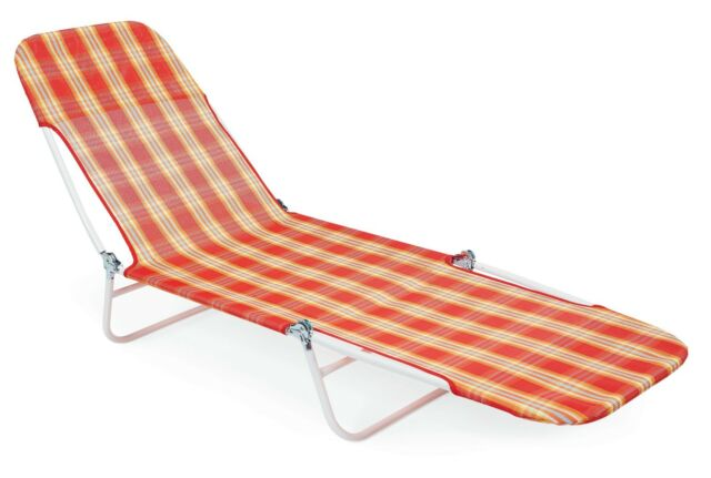 Essential Garden Fabric Chaise Lounge Chair Patio Camping Sun Beach Pool New