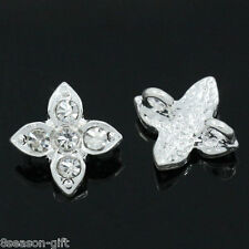 """10PCs Spacer Beads Slider With Rhinestone 2 Holes 13mm x 10mm( 4/8""""x 3/8"""")"""