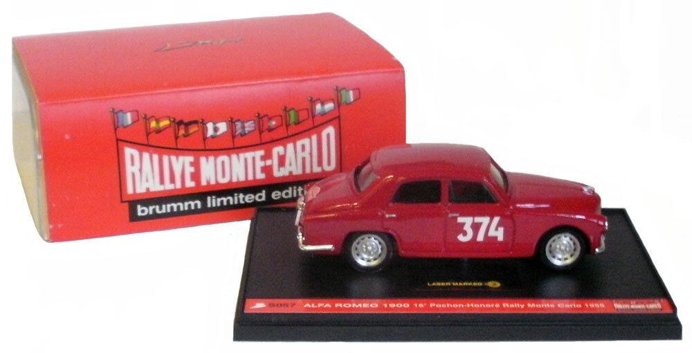Brumm Alfa Romeo 1900 Rally de Monte Carlo 1955-pochon 1 43 Escala