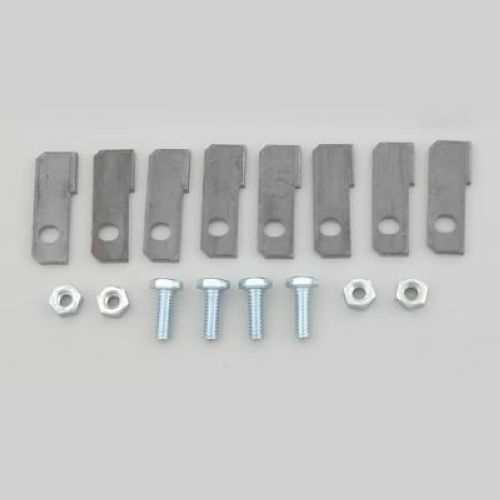 """Hedman Hedders 15200 Collector Tabs Weld-On 1.75/"""" x .625/"""" .250/"""" Hole Kit"""