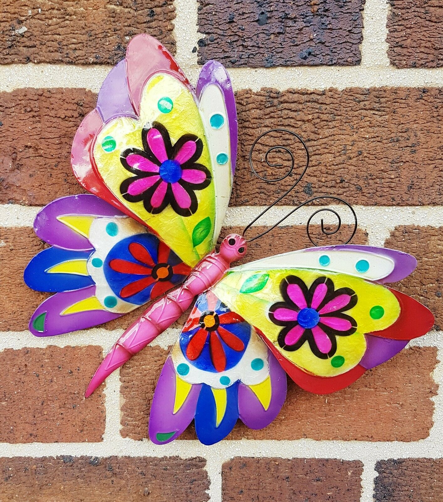 Butterfly wall art hand made metal garden decoration unique gifts fair trade