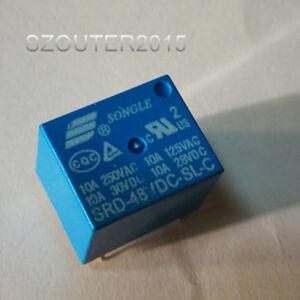 2PCS SRU-48VDC-SL-C 48VDC ORIGINAL SONGLE Relay 5PIN