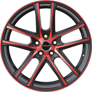 4 Gwg Wheels 17 Inch Red Zero Rims Fits Chevy Cobalt 5 Lug 2009