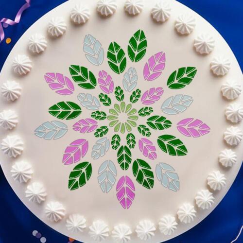 DIY Geometry Cake Bake Coffee Stencil Template Scrapbooking Painting Decor