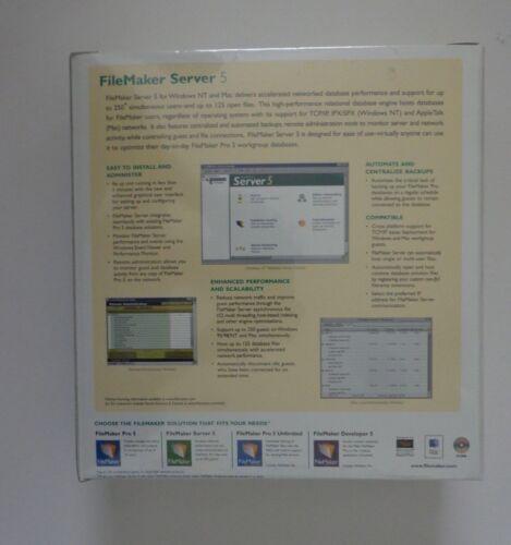 Factory Sealed Retail Box FileMaker Server 5.0 Upgrade