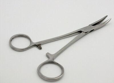 "FF117 Fishing Hemostats Forceps  Hook Remover 6/"" Curved Tip locking"