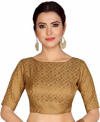 Silk crop top Printed silk Boat Neck Readymade saree blouse Indian silk saree Readymade blouse