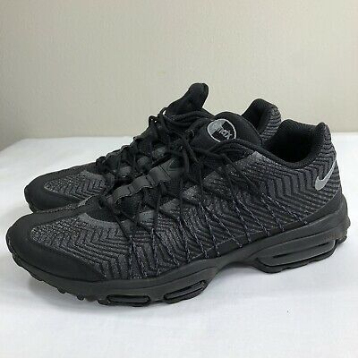 Nike Air Max 95 Ultra Jacquard Running Black Silver Men's 10 Trainer 90 Plus | eBay