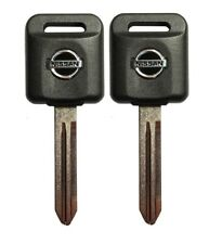 2 Ignition Key Blanks Transponder Chip Id 46 For Altima Maxima 350 And Others