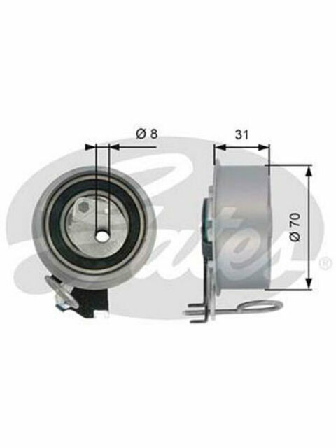 Gates Engine Timing Belt Tensioner Pulley FOR KIA CERATO LD (T43135)