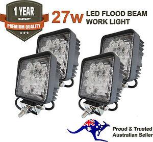 4-x-27W-LED-WORK-LIGHT-OFFROAD-FLOOD-LAMP-TRUCK-BOAT-BAR-12V-24V-4WD-4x4-UTE-SQ