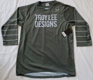 Troy-Lee-Designs-Ruckus-3-4-Sleeve-Jersey-Block-Green-Silver-Blue-Large