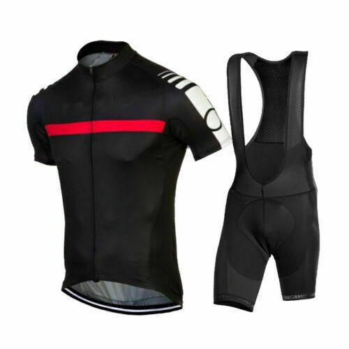 Mens Road Bike Cycling Clothing Short Jersey Bib Shorts Set Shirt Tights Cushion